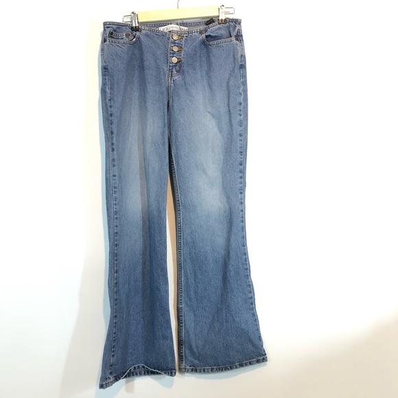 Express Denim - Express Superlow Hipster Flare Jeans 7/8